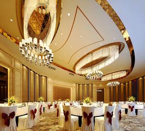 欧式风格豪华五星级酒店餐厅设计装修效果图