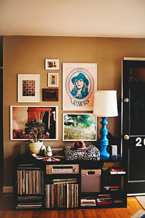 复古风格精致家装照片墙装修效果图