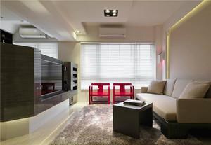 80平米简约风格冷色调室内装修效果图赏析