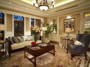 289平米美式风格精致奢华别墅室内装修效果图