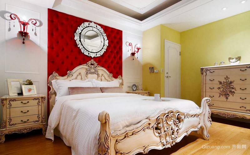 清新欧式风格简约温馨三室两厅室内装修效果图