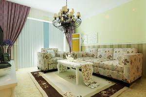 100平米欧式田园风格轻松自然室内装修效果图案例