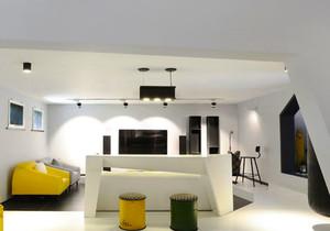 现代简约风格大户型家装吧台设计装修效果图