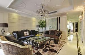 336平米新古典主义风格典雅奢华别墅室内装修效果图