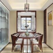 中式风格典雅精致餐厅设计装修效果图欣赏