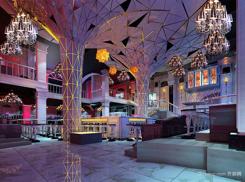 300平米欧式风格音乐酒吧设计装修效果图