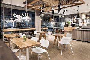 后现代风格简约文艺咖啡厅设计装修效果图
