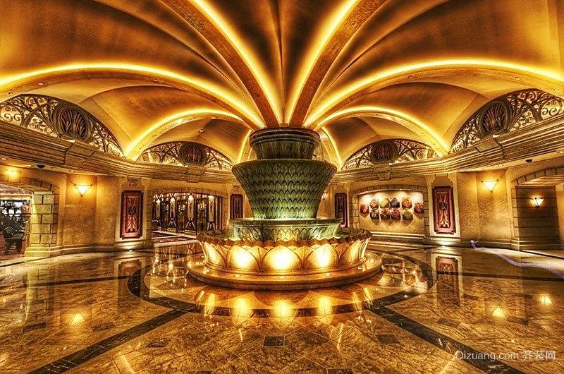 400平米欧式风格富丽堂皇酒店大堂吊顶设计装修效果图