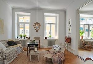 70平米北欧风格简约公寓装修效果图赏析