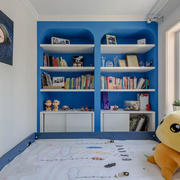 8平米地中海风格蓝色儿童房设计装修效果图
