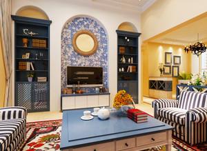 90平米地中海风格混搭风格室内装修效果图赏析