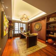 东南亚风格大户型精致书房设计装修效果图