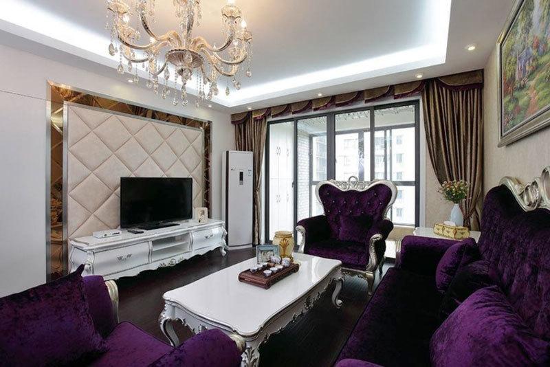法式风格精致大户型室内客厅装修效果图赏析