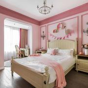 简欧风格温馨粉色儿童房设计装修效果图