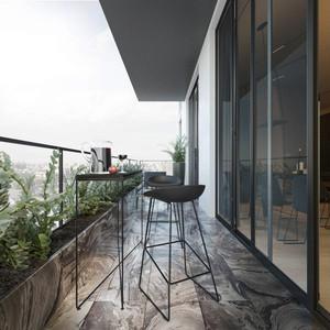 90平米后现代极简主义风格室内装修效果图赏析