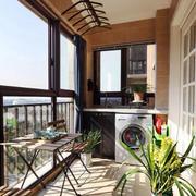 简约风格封闭式阳台设计装修效果图赏析