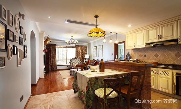 132平米美式田园风格三室两厅室内装修效果图赏析