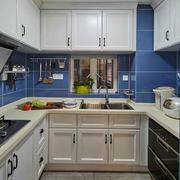 12平米简约美式简洁厨房装修效果图赏析