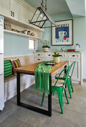 清新风格大户型室内精致餐厅设计装修效果图赏析