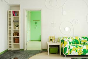 86平米清新风格简约自然两室两厅室内装修效果图
