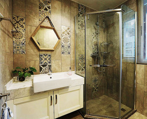 美式风格精致卫生间淋浴房设计装修效果图赏析