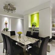 现代风格三居室室内精致餐厅设计装修效果图
