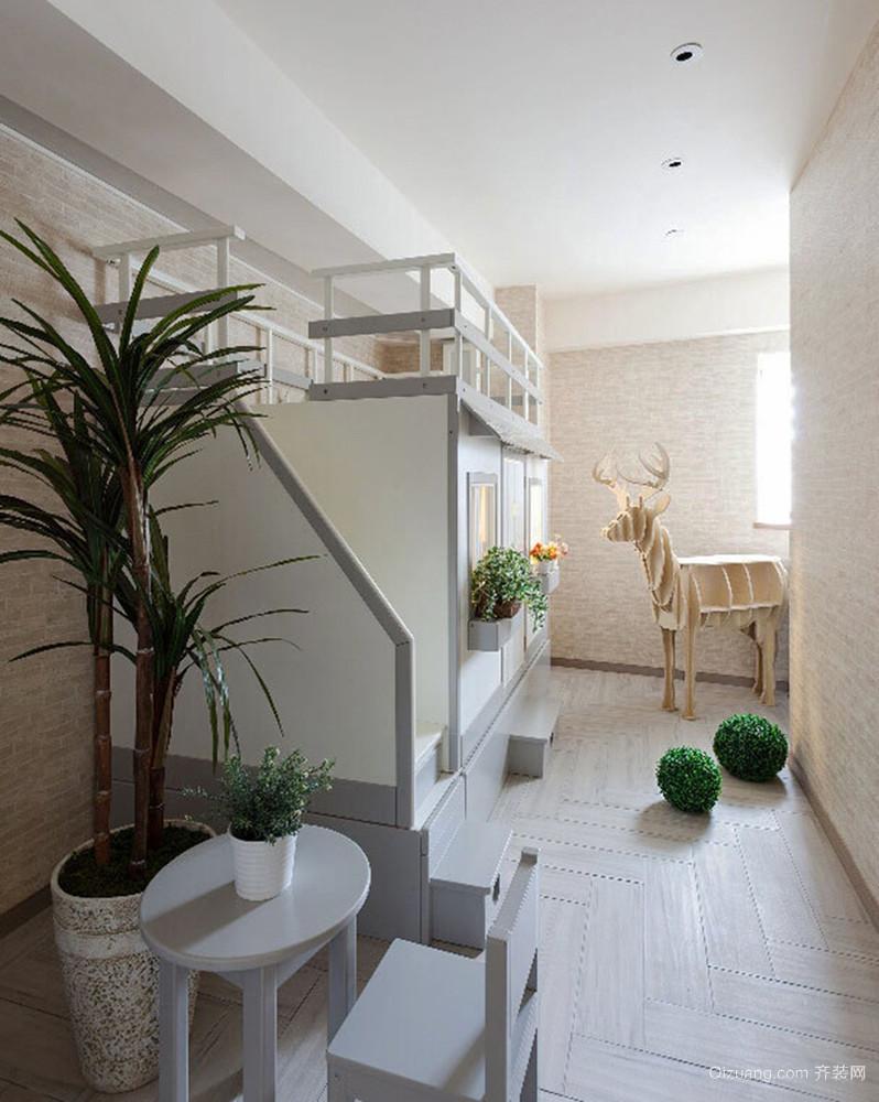 94平米现代简约风格小复式楼室内装修效果图赏析