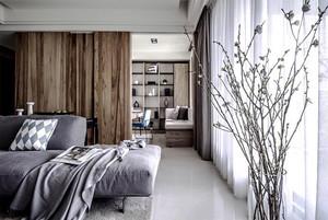 110平米现代风格灰色调精致公寓装修效果图赏析