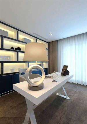 现代简约风格黑白书房设计装修效果图赏析