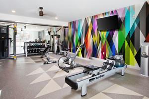 90平米现代简约风格健身房设计装修效果图