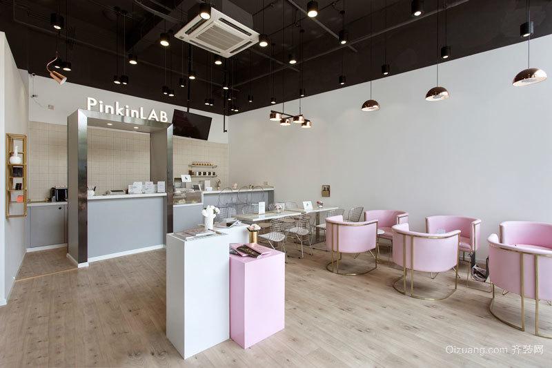 56平米简欧风格温馨咖啡厅设计装修效果图
