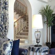 地中海风格别墅楼梯设计装修效果图赏析