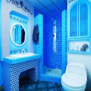 地中海风格蓝色经典卫生间装修效果图赏析