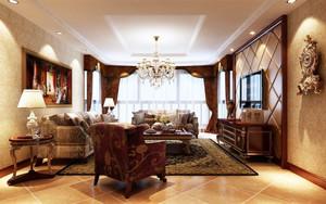 古典欧式风格雅致客厅设计装修效果图赏析