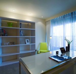 现代简约风格三居室书房设计装修效果图赏析