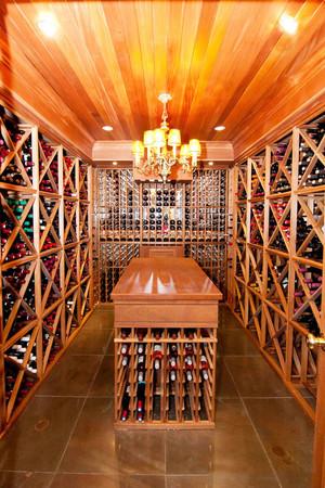 美式风格别墅室内酒柜设计装修效果图赏析
