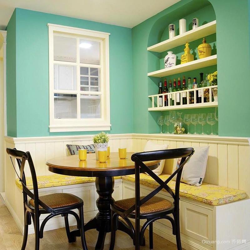100平米清新美式风格明亮室内装修效果图