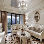 欧式风格精致浅色客厅设计装修效果图赏析
