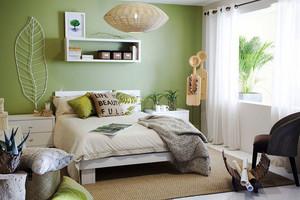 清新风格浅绿色卧室背景墙装修效果图赏析