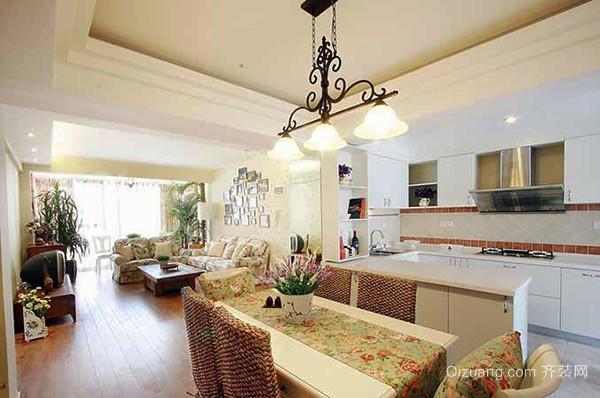 90平米田园风格浅色室内装修效果图案例
