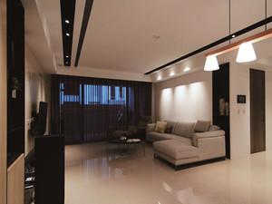 现代风格大户型室内简约客厅设计装修效果图