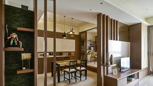 现代风格原木风四室两厅室内装修效果图赏析
