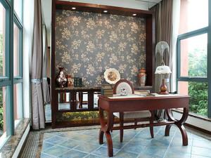 新中式风格别墅室内书房设计装修效果图赏析