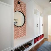 现代简约美式风格大户型玄关鞋柜设计效果图