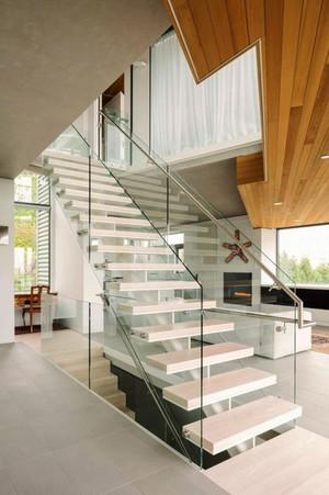 现代简约风格别墅楼梯设计装修效果图欣赏