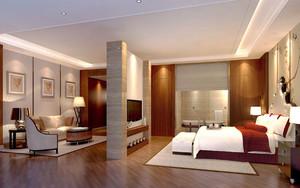 60平米中式风格精致酒店客厅设计装修效果图
