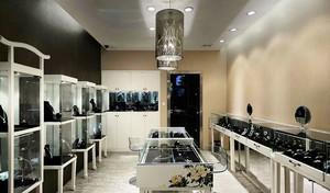 68平米新中式风格珠宝店展柜设计装修效果图