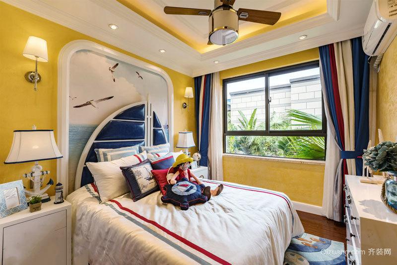 95平米地中海风格明亮黄色两室两厅装修效果图