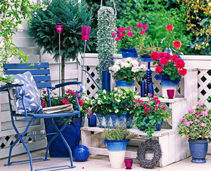 地中海风格小别墅阳台设计装修效果图欣赏