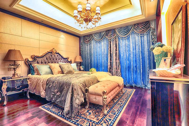 浪漫法式风格别墅卧室装修效果图案例